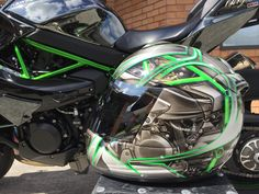 Kawasaki H2 Customised Arai Helmet