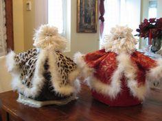 Babbo Natale copripanettone panterato e Babbo Natale copripanettone rosso