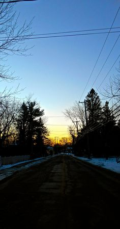 Main Road, Hudson, Quebec. #Hudson #Quebec #Sunrise