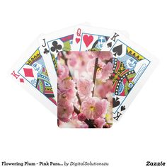 Flowering Plum - Pink Paradize Bicycle Playing Cards