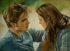 Edward and Bella by Lizapoly on DeviantArt Twilight New Moon, Twilight Movie, Twilight Saga, Saga Art, Fan Drawing, Wolf Life, Romance Art, Harry Potter Spells, Edward Cullen