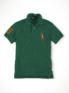 Ralph Lauren Men S Brown Green Leather Polo Custom-Fit Big Pony Welsh W Ralph  Lauren a1cd8479b912