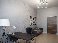 Кабинет. Дизайн интерьера 3-х комнатной квартиры в минималистичном стиле на Крестовском острове