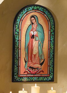Ornamental Our Lady of Guadalupe plaque; this is so beautiful!