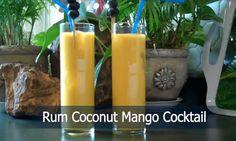 Rum Coconut Mango Cocktail. http://www.ifood.tv/recipe/rhum-coconut-mangos-cocktail