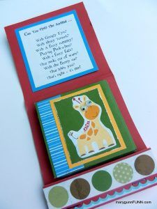 TBT, Children's matchbook/accordian style interactive card/mini book. by marygunnFUNN.com