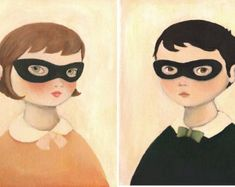 Bandit Portrait Pair Print Set