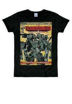 T-Shirt mit großem Transformers-Frontprin Create T Shirt Design, Original Design, Logos, Vintage Posters, Transformers, Shirt Designs, Logo Design, Mens Tops, Creative