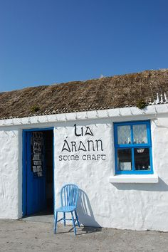 Inis Mór, (Inishmore) souvenir shop at Dún Aonghasa, Aran Islands. We bought two beautiful hand knitted wool sweaters here! Great Places, Places To See, Aran, Images Of Ireland, Irish Eyes Are Smiling, Irish Culture, Emerald Isle, To Infinity And Beyond, Ireland Travel