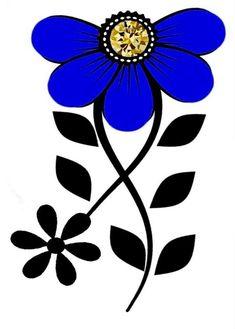 Simple Flower Design, Simple Flowers, Flower Designs, Rock Flowers, Pole Art, Star Painting, Beautiful Flowers Wallpapers, Sharpie Art, Native Beadwork