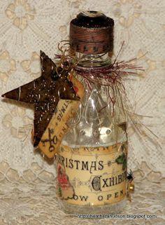 Lovely altered bottle