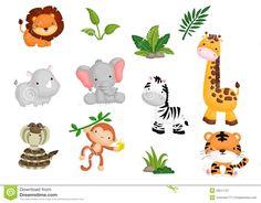 Resultado de imagen para animales de la selva vector