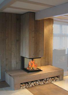 scaffolding wood fireplace