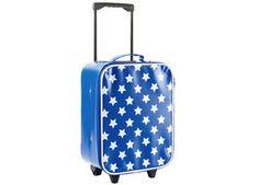 valise trolley bleue avec étoiles