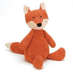 Plush Fox | Soon to be the lovie that tags along everywhere, this corduroy fox is the stuffie no one can resist falling for.