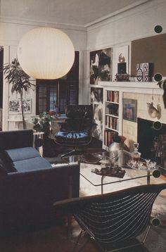 Better Homes and Gardens Decorating Book 1975-- the black and white scheme is a bit stark, but I love many of the individual pieces.