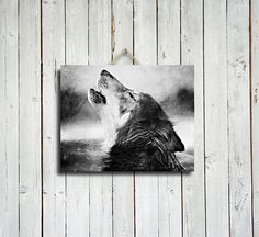 Howling Wolf - Native American Decor