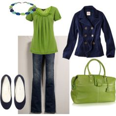 Green & navy ***Try on a top of this color, if it does not work switch to lavender***