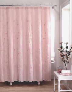 Lola Shabby Chic Fabric Shower Curtain / Curtainworks.com