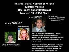 The 101 Referral Network of Phoenix Monthly Meeting Jan 2016