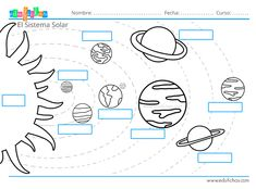 Solar System For Kids, Solar System Crafts, Science For Kids, Activities For Kids, Solar System Worksheets, Early Math, Montessori Materials, Preschool Worksheets, Social Science