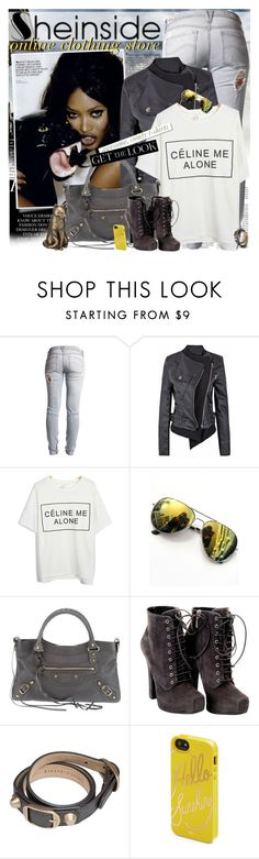 """""""SHEINSIDE - Awesome, comfy t-shirts!"""" by vn1ta ❤ liked on Polyvore featuring Lee, Balenciaga, Dolce&Gabbana, White Label, Rifle Paper Co, Sheinside, Tshirt and womenswear"""