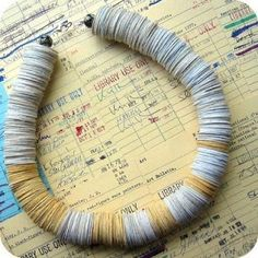 Amazing Recycled Paper Jewelry
