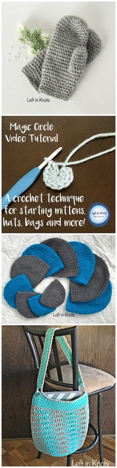 This video tutorial will help you make your circular crochet projects professional!  The magic circle is a fantastic way to start projects for a clean look without chain stitches!