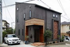 black modern home exterior Diy Exterior, Modern Exterior, Exterior Design, Amazing Architecture, Contemporary Architecture, Architecture Details, Tiny House Design, Modern House Design, Entrance Design