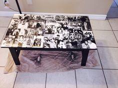 Mod podge coffee table!