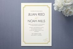 Modern Classic Wedding Invitations by annie clark at minted.com    Another possibility!  Love the Art Deco font...
