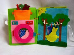 Busy Book Quiet Book Felt Activity Book Educational Sensory Toys for Toddler and Baby Gift for Kids Busy Toys Book Baby Gift Girl Montessori toys Diy Quiet Books, Felt Books, Quiet Book Templates, Felt Baby, Baby Baby, Toddler Books, Sensory Toys, Montessori Toys, Busy Book