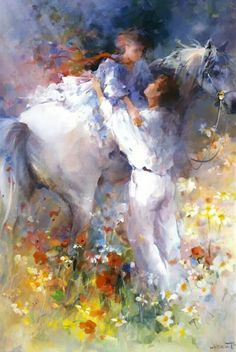 Willem Haenraets: biography of the artist Art Triste, Equine Art, Couple Art, Horse Art, Beautiful Paintings, Art World, Painting Inspiration, Watercolor Art, Art Gallery