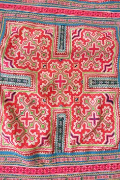 Vintage Hmong baby carrier Handmade tapestry by tribalcollection
