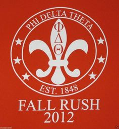 2012 Phi Delta Theta Fraternity T-Shirt, Fall Rush, found in Louisville KY  ~ for sale on ebay