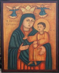 Coptic Icon - Mother and Child.  I love the simplicity and vibrancy of Coptic icons.