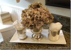 Silver bathroom accessories