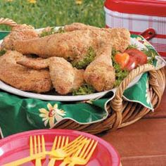 Tried & Liked: Parmesan Chicken - I love this recipe!  I like using chicken drumsticks, and take the skin off before coating.  I bake some oven fries/cubes along with the chicken.  Delicious!