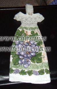 Dress Towel Topper - free crochet pattern