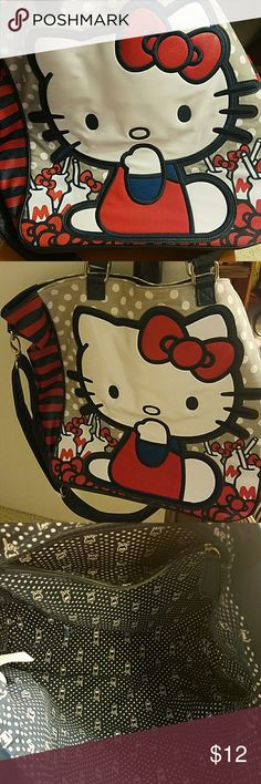 Used Hello Kitty tote Used large Hello Kitty bag Sanrio Bags Totes