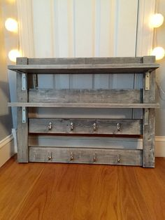 Rustic Coffee Rack - Coffee Mug Storage - Tea Cup Storage - Kitchen & Dining Room Storage - Shelving Unit - Kitchen Decor