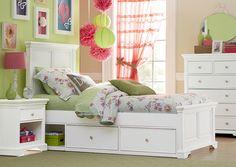 Atlantic Avenue White Twin Size Panel Bed