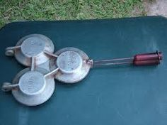 Image result for 4 ROUND JAFFLE MAKERS IN ONE Pie Irons, Toast Sandwich, Bagel, Kitchen Ideas, Sandwiches, Camping, Chic, Furniture, Breakfast Sandwich Makers