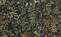 """renaissance-art: """" Details of foliage in the Unicorn Tapestries """""""