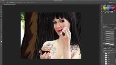 Pintando Dani Noce (ICKFD) - Digital portrait speedpaint