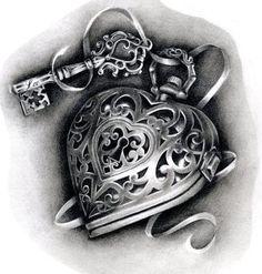 20 Heart-Shaped Locket Tattoos