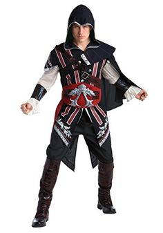 [Halloween Costumes Ideas] Assassin's Creed: Ezio Deluxe Adult Costume XL * To view further for this item, visit the image link. (This is an affiliate link) Trendy Halloween, Adult Halloween, Funny Halloween Costumes, Cartoon Costumes, Halloween Ideas, Dress Up Costumes, Adult Costumes, Cosplay Costumes, Game Costumes