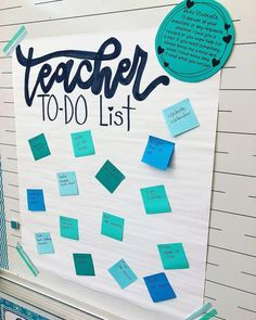 Teacher To-Do Lists! ✏ We all have them, but do your STUDENTS write yours? This anchor chart has given my crazy kiddos a place to jot down any questions or requests that they may have for me! This way, they are not interrupting instruction, they do no Teacher Organization, Teacher Tools, Teacher Hacks, Teacher Resources, Teacher List, Student Teacher, Student Gifts, Teacher Stuff, Teaching Ideas