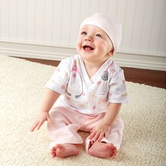 Your sweet baby girl will look absolutely adorable in our Baby Nurse Layette Set.