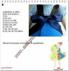 Crochet Doll Pattern, Afghan Crochet Patterns, Amigurumi Patterns, Amigurumi Doll, Crochet Dolls, Doll Patterns, Knit Crochet, Elsa, Free Pattern